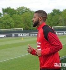 Júnior Tavares treinando no Rennes
