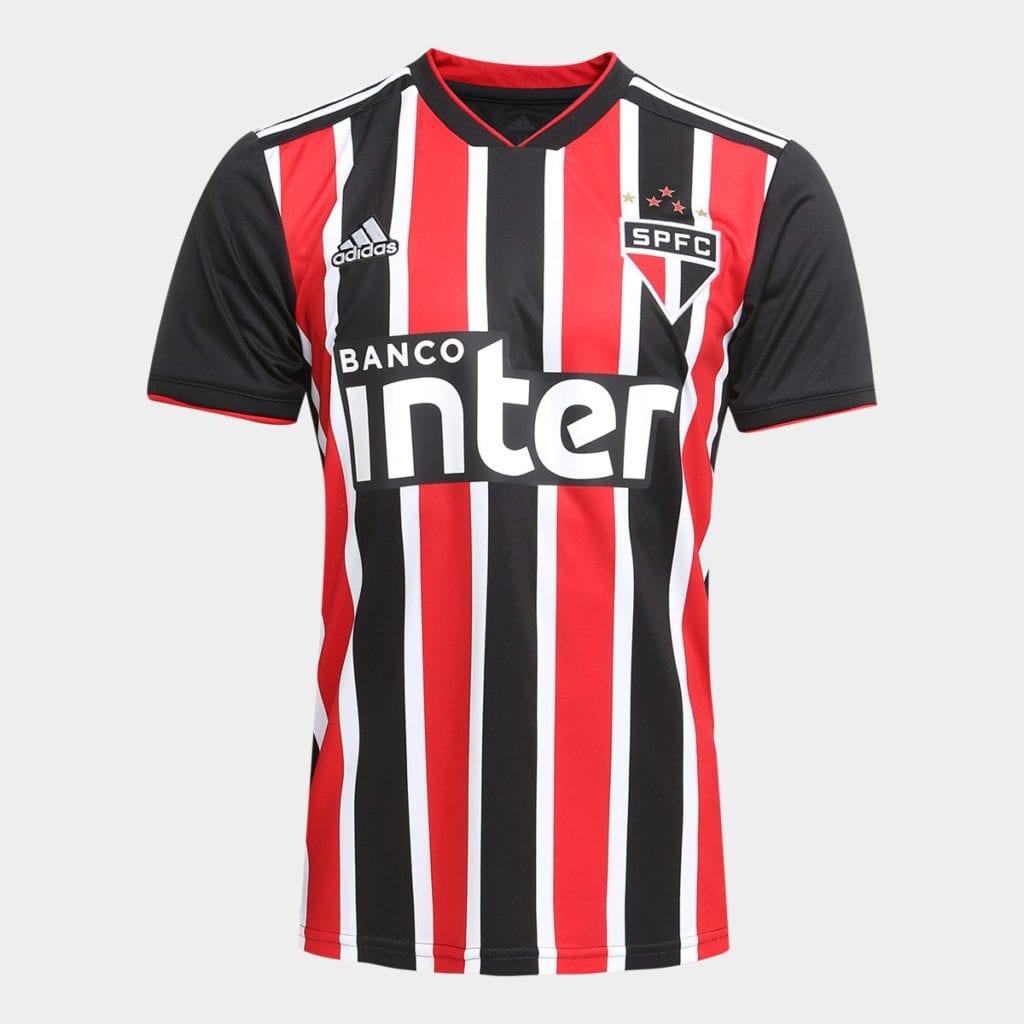 ff077c67229 ... Camisa São Paulo II 2018 s n° Torcedor Adidas Masculina    Vermelho+Branco –