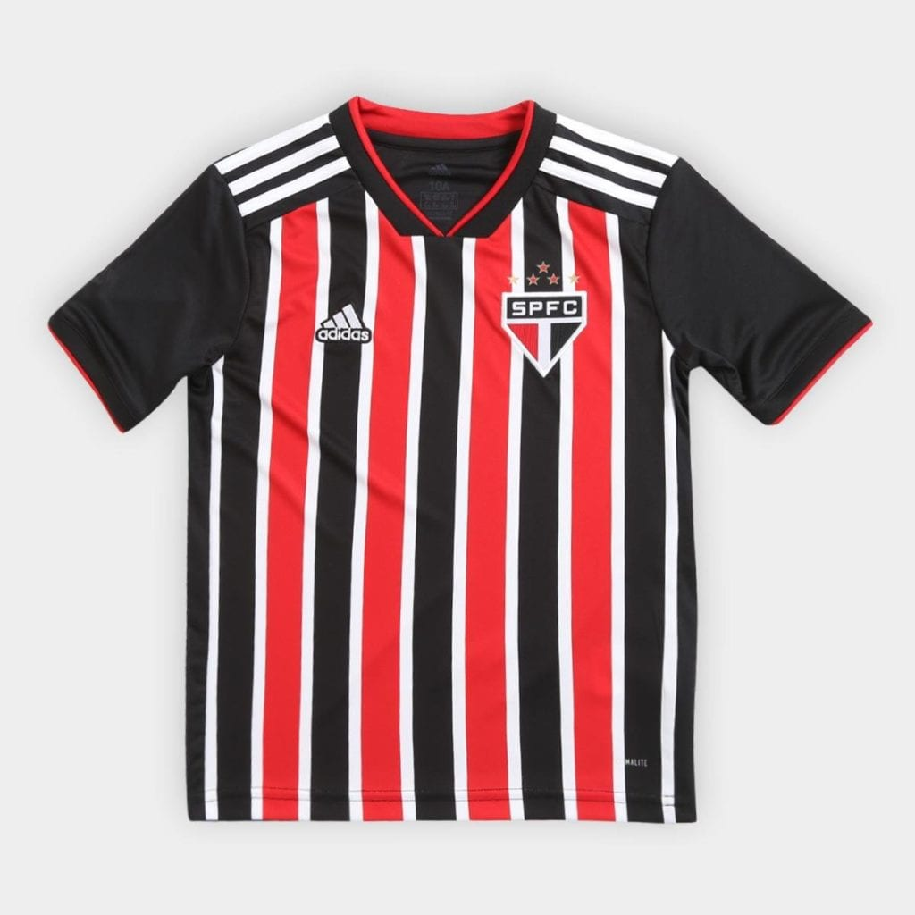 f7b6677fbb8 ... Camisa São Paulo Infantil II 2018 s n° Torcedor Adidas    Vermelho+Branco –