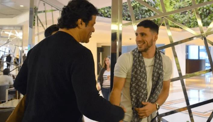 Raí e Calleri na Argentina em 2018