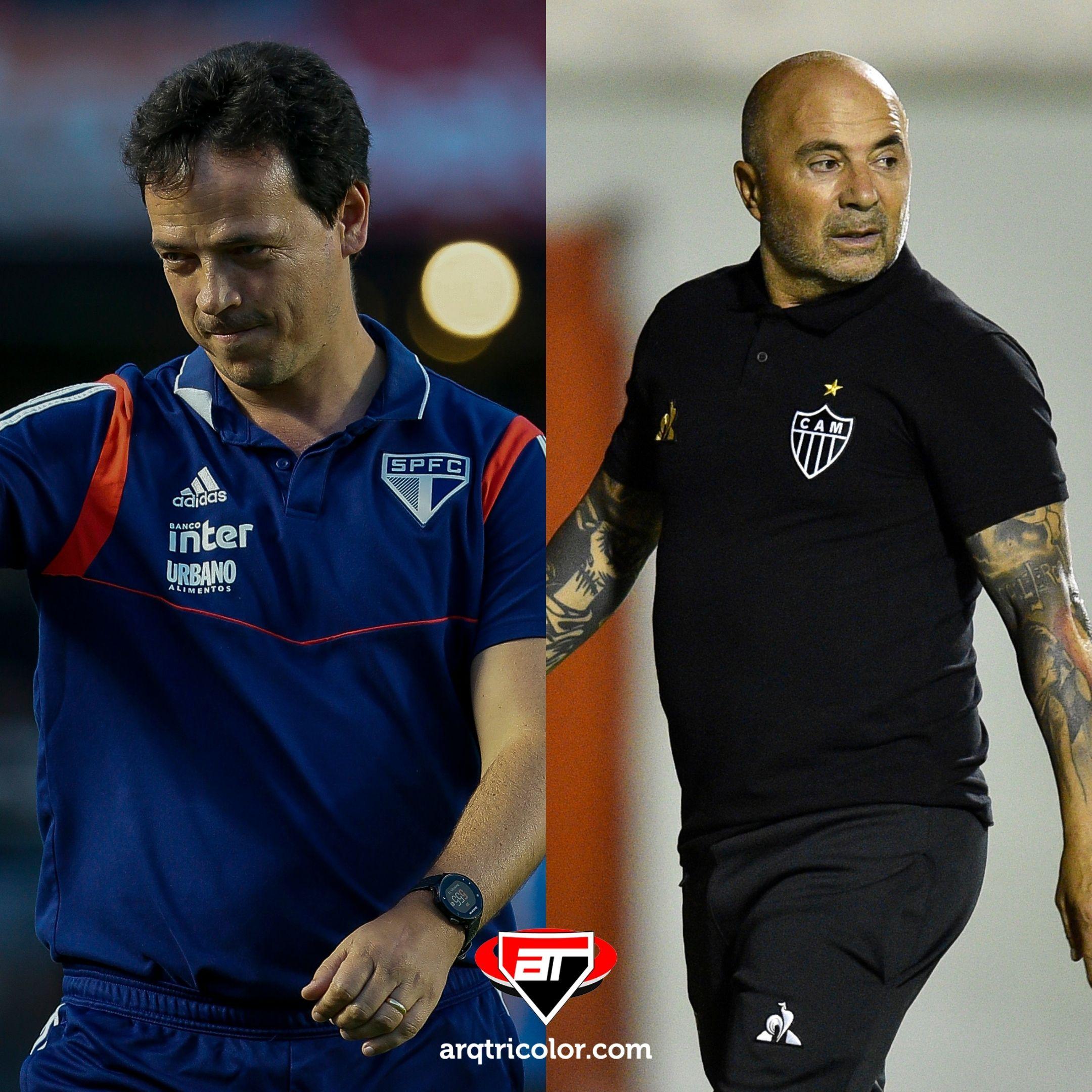 Fernando Diniz e Jorge Sampaoli se enfrentam hoje pelo Campeonato Brasileiro