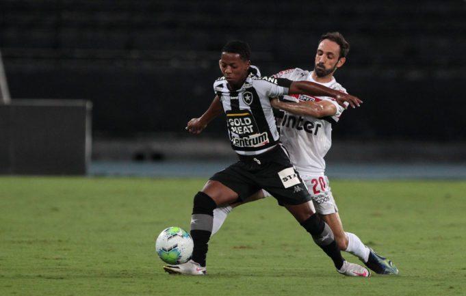 O São Paulo perdeu por 1x0 para o Botafogo